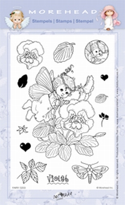 Clearstamp Morehead,  Fairy Violet, 10x15 cm