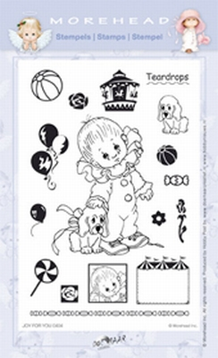 Clearstamp Morehead,  Joy for You Teardrops, 10x15 cm