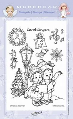 Clearstamp Morehead,  Kerst Carolsingers, 10x15 cm