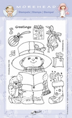 Clearstamp Morehead,  Kerst Greetings, 10x15 cm