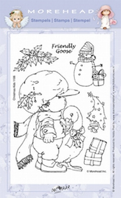 Clearstamp Morehead,  Kerst Friendly Goose, 10x15 cm