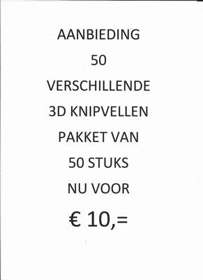 50 3D knipvellen