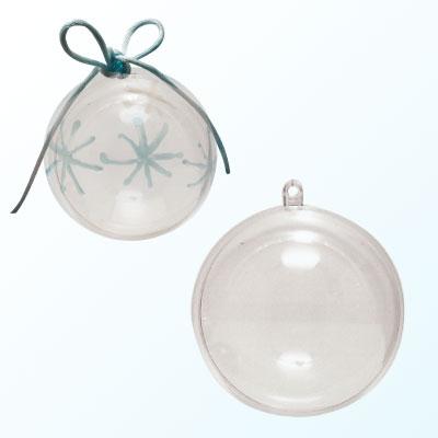 Plastic bal 2-delig 6cm