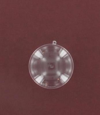 Plastic Medaillon 2 delig, transparant, 70 mm