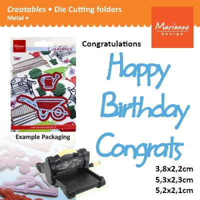 Marianne Design Creatables happy birthday congrats