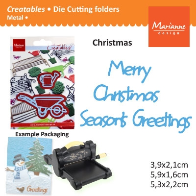 Marianne Design Creatables merry christmas seasons greeting