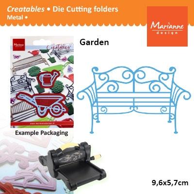 Marianne Design Creatables garden bench metal