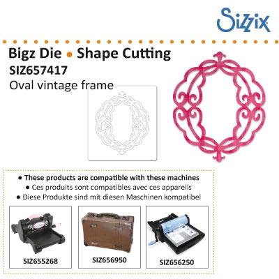 Sizzix Bigz die oval vintage frame