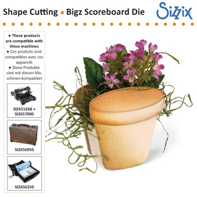 Sizzix Bigz scoreboards die clay pot