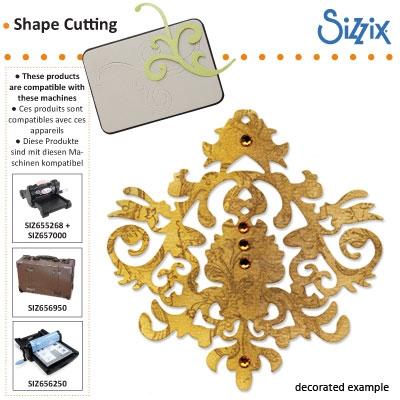 Sizzix Sizzlits die baroque ornament