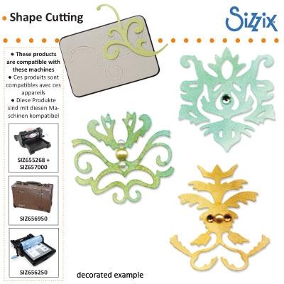 Sizzix Sizzlits die set 3pk royal motif