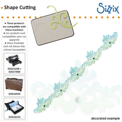 Sizzix Sizzlits decorative strip die regal edging