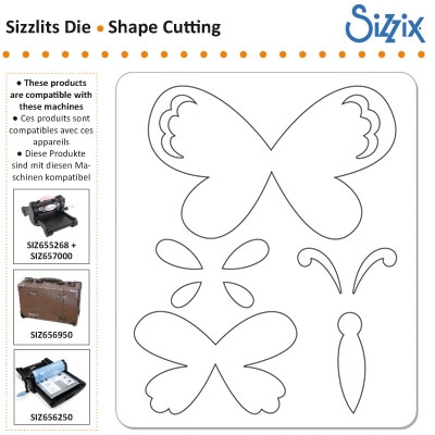 Sizzix Sizzlits die butterfly layers