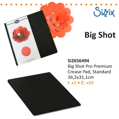 Sizzix big shot PRO premium crease pas standard
