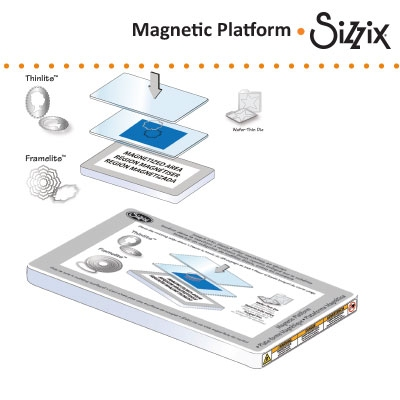 Sizzix magnetic platform for wafer thin dies