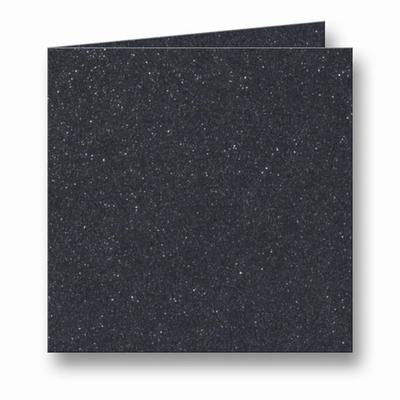 14 Metallic Dubbele kaart 15x15 CM Black per stuk