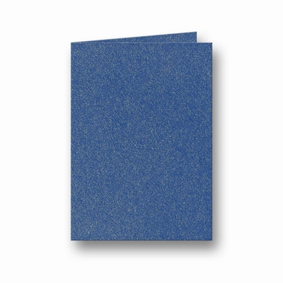 13 Metallic Dubbele kaart 15x10,5 CM Dark Blue per stuk