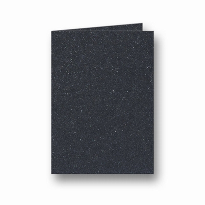 14 Metallic Dubbele kaart 15x10,5 CM Black per stuk