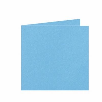 27 Dubbele kaart 13x13 CM Roma Oceaanblauw