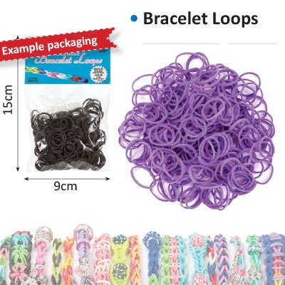 Bracelet loops x300 + S-clips x12 purple