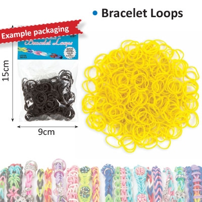 Bracelet loops x300 + S-clips x12 yellow