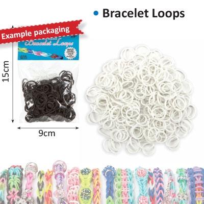 Bracelet loops x300 + S-clips x12 white