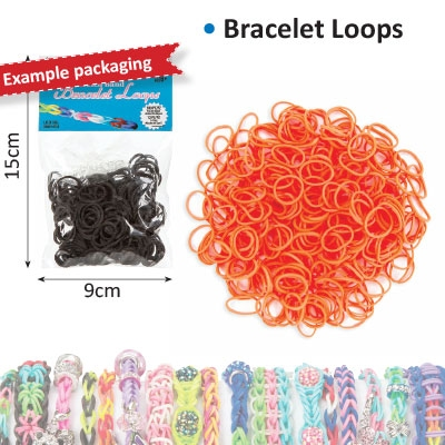 Bracelet loops x300 + S-clips x12 orange