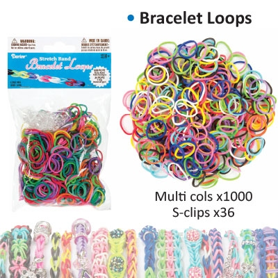 Bracelet loops x1000 + S-clips x36 assorted