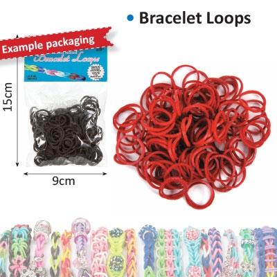Bracelet loops x300 + S-clips x12 maroon