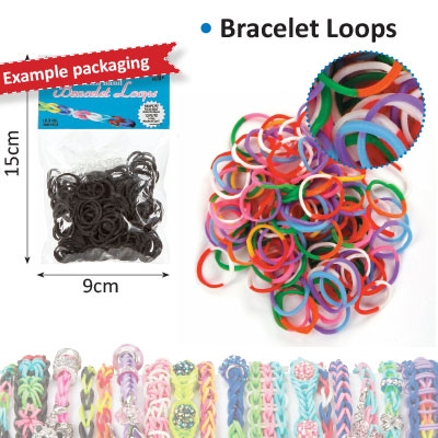 Bracelet loops x300 + S-clips x12 twin color