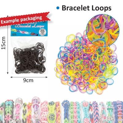 Bracelet loops x300 + S-clips x12 glitter
