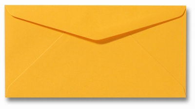 10 Envelop DL 11x22 CM Roma Goudgeel