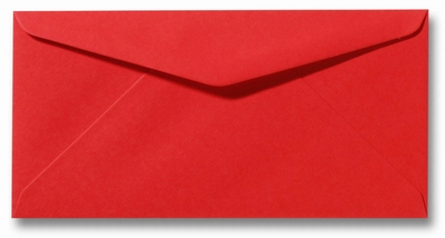 13 Envelop DL 11x22 CM Roma Koraalrood