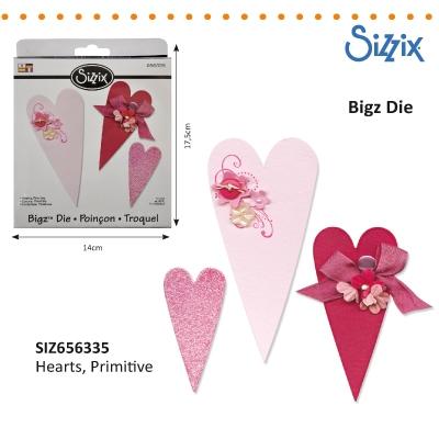 Sizzix Bigz Die primitive hearts