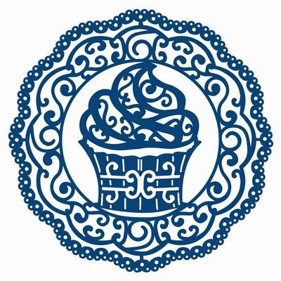 Tattered Lace Doily Cupcake Circle (ACD196)