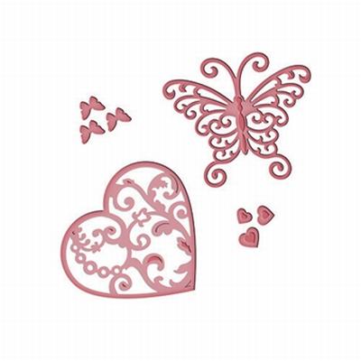 Spellbinders Die D-Lite S3-211 Flutter Love