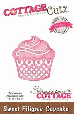 CottageCutz Sweet Filigree Cupcake (Elites) (CCE-093)