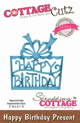CottageCutz Happy Birthday Present (Elites) (CCE-160)