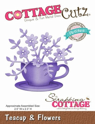 CottageCutz Teacup & Flowers (Petites) (CCP-031)