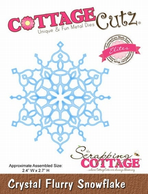 CottageCutz Crystal Flurry Snowflake (Elites) (CCE-033)