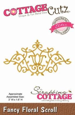 CottageCutz Fancy Floral Scroll (Elites) (CCE-023)