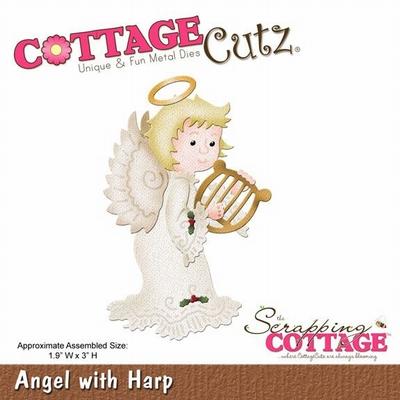 CottageCutz Angel with Harp (CC-024)
