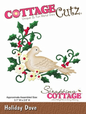 CottageCutz Holiday Dove (CC-017)