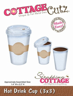 CottageCutz Hot Drink Cup (CC3x3-091)