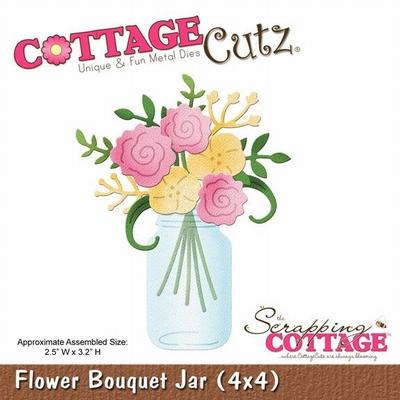 CottageCutz Flower Bouquet Jar (4x4) (CC4x4-586)