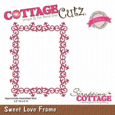 CottageCutz Sweetheart  Sweet Love Frame (Elites) (CCE-098)