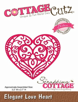 Cottage Cutz Elegant Love Heart (Elites) (CCE-086)