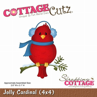 CottageCutz Jolly Cardinal (CC4x4-552)