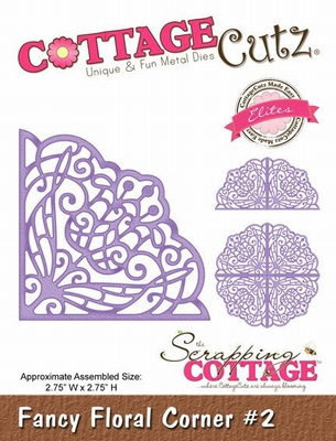 CottageCutz Fancy Floral Corner #2 (Elites) (CCE-020)