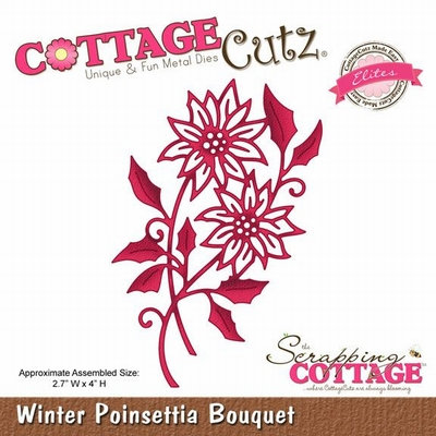 CottageCutz Winter Poinsettia Bouquet (Elites) (CCE-046)